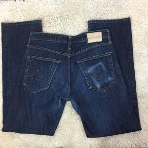AG The Protege Straight Leg medium wash jeans